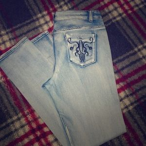 Jeans, light blue with pockets design